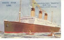 White Star Line Collectable Transportation Postcards