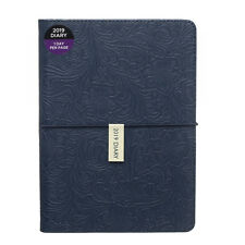 WHSmith 2019 A5 Navy Floral Pattern PU Diary Day to Page Case Bound
