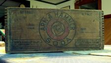 Antique Wooden Box ARM & HAMMER SODA Wood Crate Baking Church & Dwight  Co. NYC