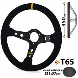 Wildleder-Lenkrad, Carbon, 65 mm tief geschüsselt, steering wheel, raceparts cc