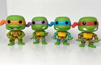 Funko Pop Television Vaulted TMNT Teenage Mutant Ninja Turtles Loose Set of 4