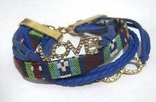 GREAT Blue materiale Bracciale con infinito e parola love decorazione