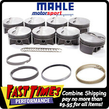 MAHLE PISTONS SBC Small Chevy Flat Top 350ci 4.00-bore 3.480-stroke 5.700-rod