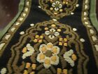 """Antique Vintage Embroidered Servants Bell Bull 38"""" Ornate Gorgeous Tapestry"""