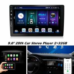 "9.0"" 2DIN Android Car Stereo Audio Radio MP5 Player Wifi Touch Screen 2+32GB"