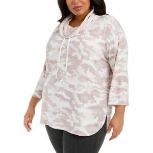 CALVIN KLEIN PERFORMANCE NEW Women's Plus Size Cowlneck Sweatshirt Top TEDO