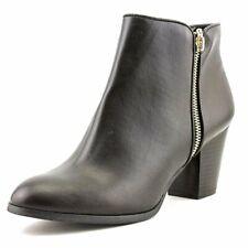 Style & Co. Womens Jamila Leather Almond Toe Ankle Fashion, Black, Size 8.5 U2dI