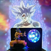 Dragon Ball Z Son Goku Silver Ultra Instinct Figure LED Table Lamp Kid Xmas Gift