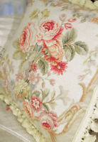 """16"""" STUNNING Victorian Needlepoint Pillow NEW design Rose Floral French Country"""