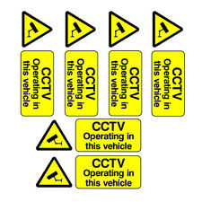 6x cctv operating in this vehicle Taxi bus car security stickers coach sign