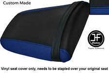 BLACK R BLUE VINYL CUSTOM FITS HONDA CBR 1000 RR FIREBLADE 04-07 REAR SEAT COVER