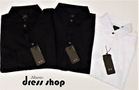 CAMICIA SHIRT SLIM FIT BASICA ARMANI EXCHANGE UOMO 8NZCBD ZN10Z BLU BIANCO NERO