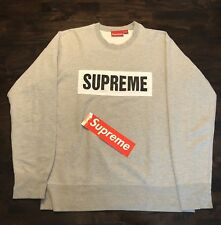 Supreme S/S 2014 Marathon Crewneck (Grey, Medium)