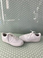Nike Court Vision White Leather Lace Up Low Top Sneakers Men's Size 8.5