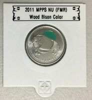 CANADA 2011 New 25 cents Wood Bison COLOR (BU From roll)