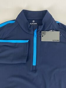 NWT G4 G/Fore 1/4 Zip Golf Pullover Twilight Blue Men's Size Large MSRP $165