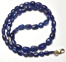 """145 CT 18"""" NATURAL TANZANITE SMOOTH NUGGETS  BIG BEADS NECKLACE 5 TO 12 MM"""