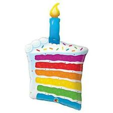 """42"""" Rainbow Cake & Candle foil mylar balloon New in Packge"""