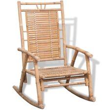 vidaXL Schaukelstuhl Stuhl Schaukelsessel Relax Schwingsessel Gartenmöbel Bambus