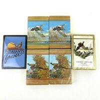 Lot of  6 Playing Cards Decks Sealed Vintage New Wildlife Pheasants Birds Theme