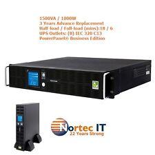 CyberPower Pro Rack 1500VA/1000W 2U Line Inter UPS - 3Yrs AdvRepl PR1500ELCDRT2U