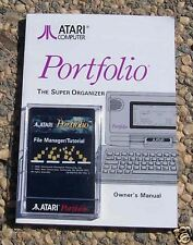 Portfolio File Manager W/Man New Original Atari