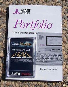 Portfolio FILE MANAGER W/MANUAL NEW ORIGINAL Atari