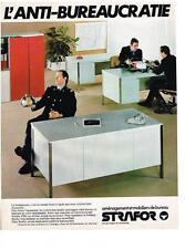 PUBLICITE ADVERTISING    1979   STRAFOR   mobilier de bureau