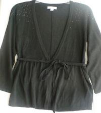 Liz Lange Sweater Black Wrap Sequin Detail Ebony NWTS Maternity