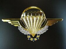 FRENCH FOREIGN LEGION &  ARMY HALO PARA AIRBORNE PARACHUTE WINGS BADGE       -01