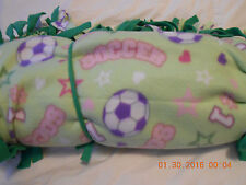 "SOCCER in green, pink, purple and blue pastels !! ... 72"" x 60"" !"