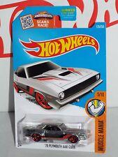 Hot Wheels Wal-Mart 2016 ZAMAC Muscle Mania Series #125 '70 Plymouth AAR Cuda