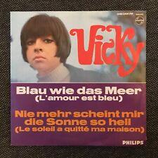 7'Vicky Leandros  >Blau wie das Meer(L'amour est bleu)< EUROVISION 1967