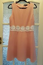 NEW LOOK Lovely Peach Embroidered Dress Size Large - VGC