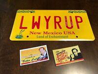 Breaking Bad Saul Goodman LWYRUP Stamped Prop License Plate w/Business Cards