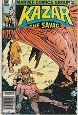 Ka-Zar the Savage #6 Sept 1981, Marvel Comic Book FN