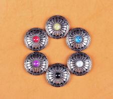 6x 30mm Sun Flower 6 Colors Turquoise Silver Screw Back Western Decor Conchos