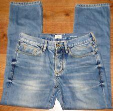 ✿MENS RIVER ISLAND blue straight leg denim jeans size 30S✿