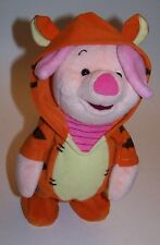 """Disney's Winnie The Pooh 11"""" Piglet in Tigger Costume Animated Toy Plush"""