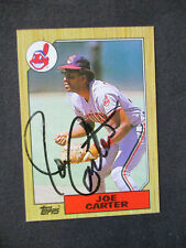 Joe Carter Cleveland Indians Autographed Signed 1987 Topps #220 EXMT+-NM 466