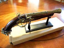 Replica Antique Pistol Table Gun w/Stand - Model 1760 -  18th Century Decor New