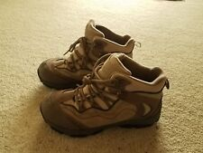 LANDS' END Brown and khaki Suede and canvas hiking boots shoes size 8.5 medium