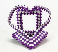 Arizona Prison Inmate Handmade Tramp Art Cigarette Heart Shaped Picture Frame