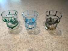 Bikini Shot Glasses Set of 3 Gift 3D Bikini Shape Shotglass Green Black & Blue