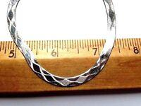 Flexible 5.5 mm Herringbone Sterling Silver Chain #1  .925 Pure Silver