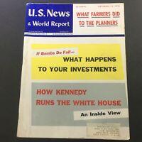 VTG U.S. News & World Report Magazine November 13 1961 - John F. Kennedy Topic