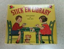 Vintage Children's Stick'Em Library, 4 books, used, No. 130, RARE