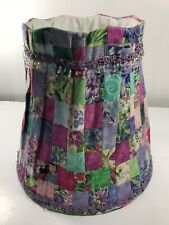 Country Primitive Quilted Patchwork Beaded Fabric Lampshade Lamp Shade Large