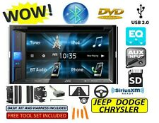 CHRYSLER JEEP DODGE JVC TOUCHSCREEN BLUETOOTH/USB/EQ CAR RADIO STEREO PKG