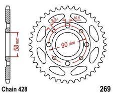 TMP Pignon Sortie Boite Arrière 49 Dents (Chaîne428) DAELIM VT 125 Evoluti 98-02